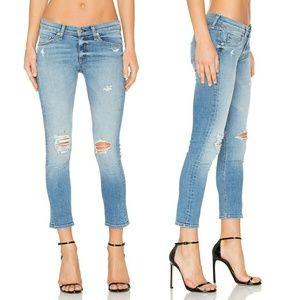 Rag & Bone Distressed Skinny Jeans in Gunner
